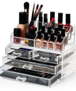 Makeup boks i Akryl med 4 skuffer