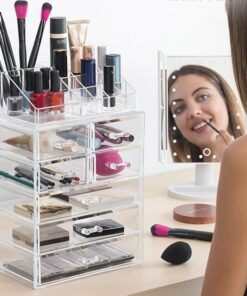 Makeup Boks i Akryl Med 7 Skuffer & 16 Rum