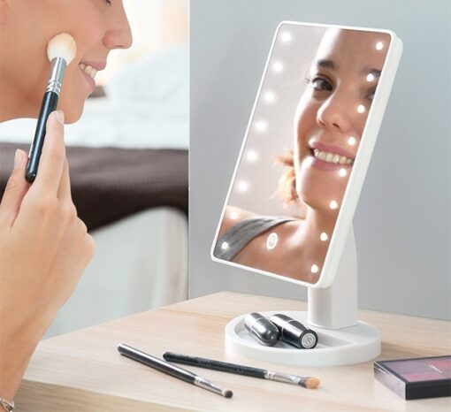 BEAUTÉ LED bord makeup spejl med lys