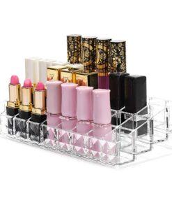 Hellolovely Makeup boks til 36 stk læbestifter i akryl