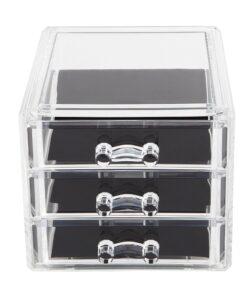 Hellolovely akryl opbevaringsboks med 3 skuffer