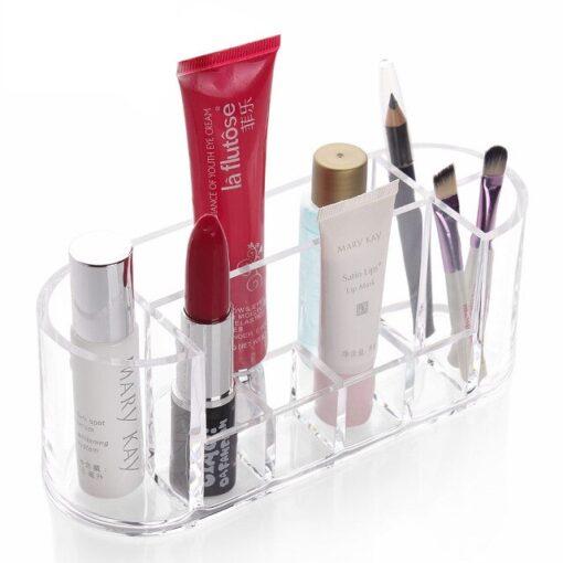 Makeup oval organizer til læbestift og neglelak