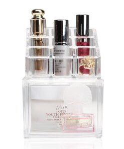 Makeup box med låg til neglelak og læbestifter