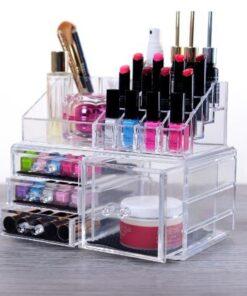 Makeup Boks i Akryl med 4 skuffer & 16 rum