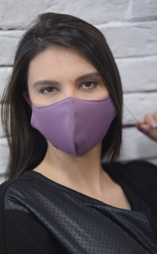 Stof ansigtsmaske i 3 lag - Lilla - Unisex