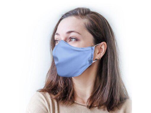 Stof ansigtsmaske i 3 lag - Lyseblå - Unisex